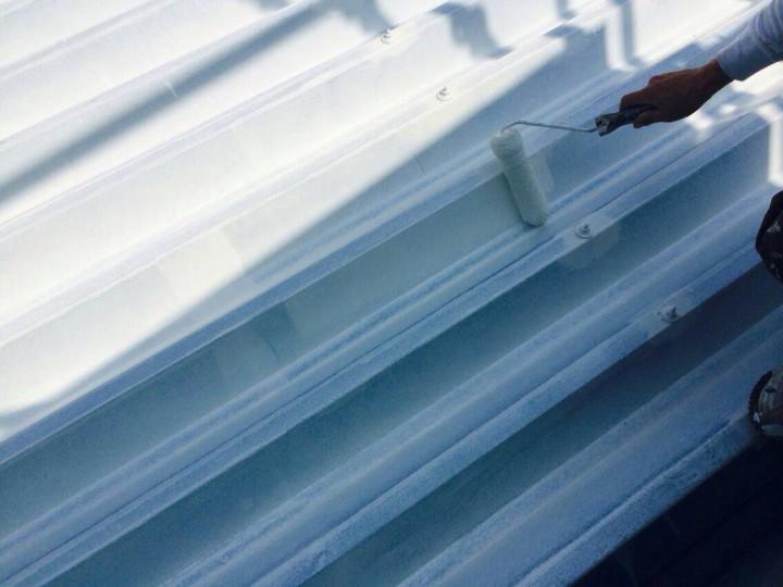 屋根下塗り (2)
