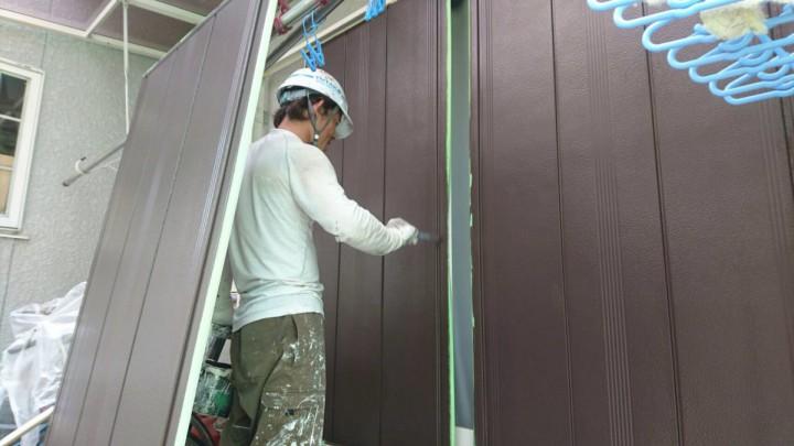 雨戸塗装 (2)